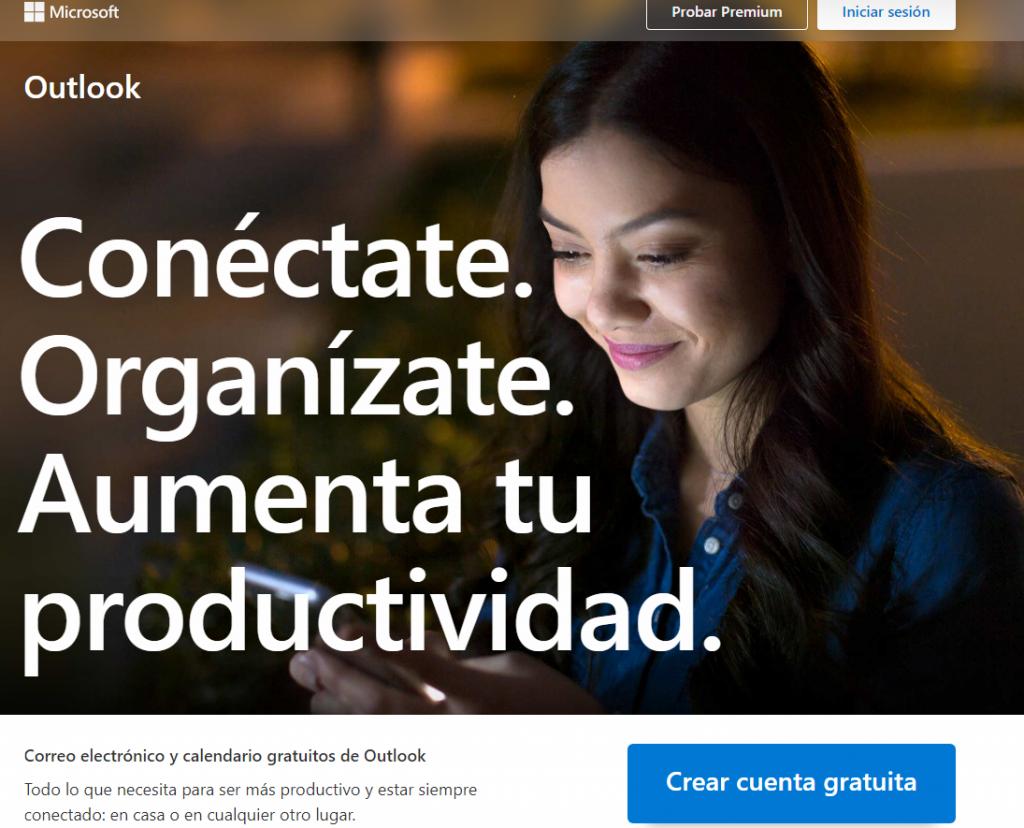 Como debo crear mi correo electrónico gratis. Entra en Crear cuenta gratuita, es la pagina principal de outlolk.com para iniciar sesión o crear nueva cuenta de correo electrónico.